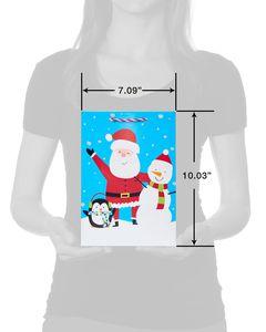 Santa and Snow Friends Small Christmas Gift Bag