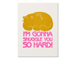 Snuggle Birthday Card from Cat