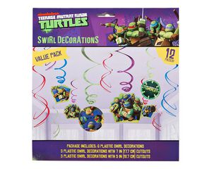 teenage mutant ninja turtles swirl decor