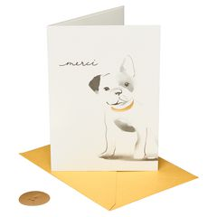 French Bulldog Thank You Greeting Card