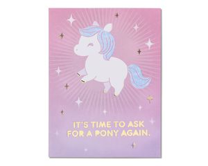 Pony Birthday Card