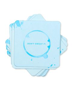 don't sweat it coasters (set of 8)