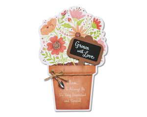 grown with love mother's day card