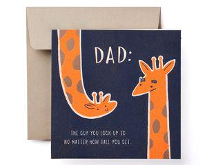 Giraffe Father's Day Card