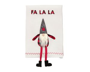 Mud Pie Fa La Dangle Leg Gnome Towel