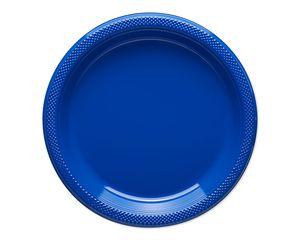 royal blue dinner plates 20 ct