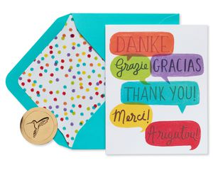 International Thanks Boxed Thank You Cards and Envelopes, 20-Count