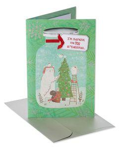 Woodland Creatures Christmas Card