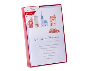 Deluxe Emily Matthews: Truck and Town Christmas Boxed Cards and White Envelopes, 14-Count