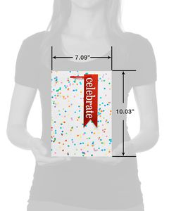 Rainbow Confetti Small Celebration Gift Bag with Tag