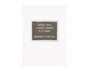 Marriage Is For Life Wedding Card