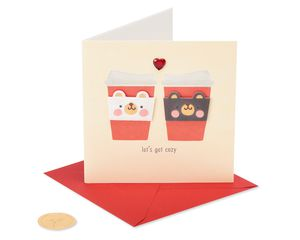 Coffee Cozies Christmas Greeting Card