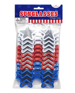 Patriotic Star Sunglasses, 12-Count