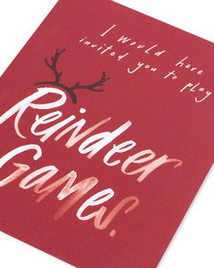reindeer games romantic holiday card