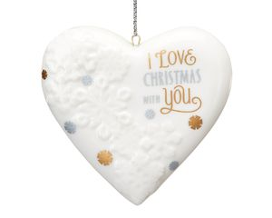 Christmas Together Heart Ornament