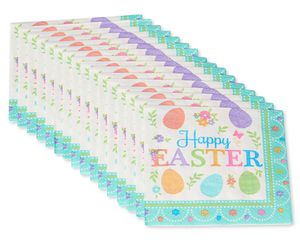 Lovely Easter Beverage Napkins, 16-Count