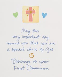 Kathy Davis Icons First Communion Card