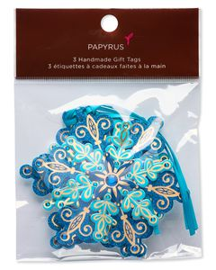 Layered Snowflakes Holiday Tags