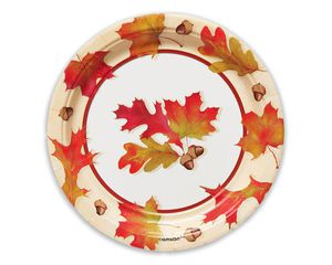 Autumn Days Dessert Plates, 12 Count