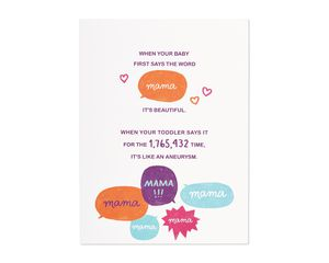 aneurysm mother's day card