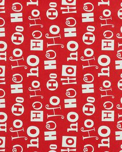 Christmas Wrapping Paper, Santa Heads and 'Ho Ho Ho', 2-Roll Pack