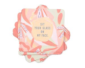 sit your glass on my face coasters (set of 8)