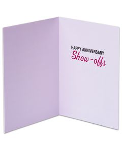 funny show-offs anniversary card