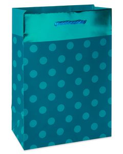 Small Teal Polka Dots with Foil Gift Bag