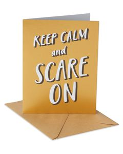 Keep Calm Halloween Card