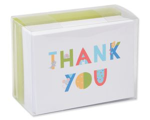 Baby Icons Thank-You Cards and Envelopes, 50-Count