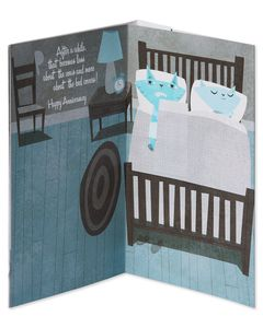 Bed Covers Anniversary Card