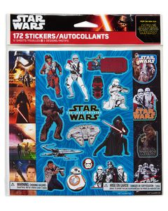 Star Wars Episode VII Sticker Sheets, 12 Sheets