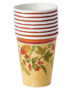 Thanksgiving Medley 9-oz. Paper Cups, 8-Count