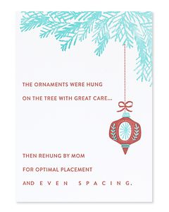 mom's tree christmas card