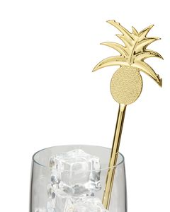 Party Partners Gold Pineapples Stirrers, 8-Count