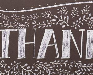 Floral Chalkboard Boxed Blank Thank You Cards and Envelopes, 14-Count
