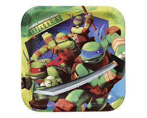 teenage mutant ninja turtles dinner  square plates 8 ct