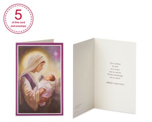 Religious Assorted Christmas Boxed Cards and Assorted Envelopes, 20-Count