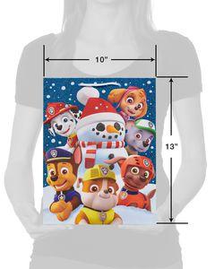 Medium PAW Patrol with Glitter Christmas Gift Bag