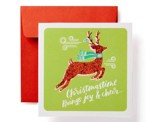 Reindeer Christmas Money and Gift Card Holder Greeting Card