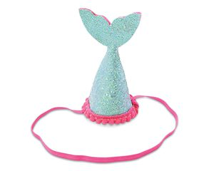 Mud Pie Blue Mermaid Tail Party Hat