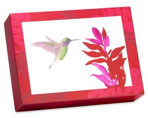 Watercolor Hummingbirds Keepsake Boxed Blank Cards and Envelopes, 20-Count
