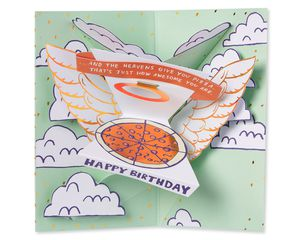 Pizza Pop-Up Birthday Card with Music