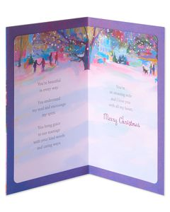 Religious Blessing Christmas Card for Wife