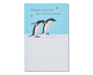 penguin anniversary card