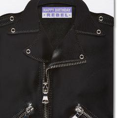 Leather Jacket Birthday Greeting Card