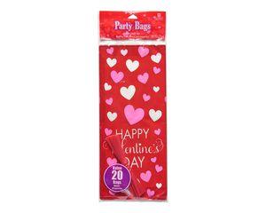 valentine's day treat bags 20 ct