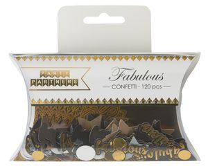 Party Partners Fabulous, Stars, Dots, Confetti, 120-Count