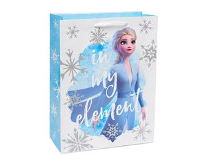 Frozen Silver Glitter Medium Gift Bag