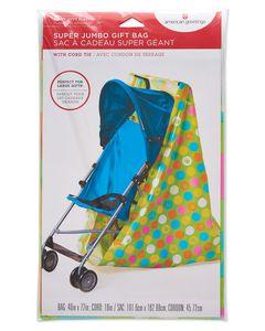 Jumbo Plastic Gift Bag Baby Hands and Feet
